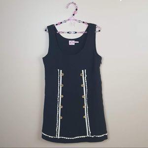 Juicy couture vintage black button frill dress 8